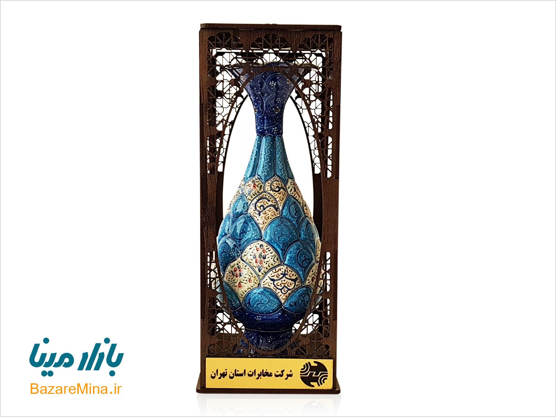 هدایای تبلیغاتی گلدان میناکاری جعبه مشبک