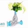 گلدان مسی مینا کاری 16 سانتی متری