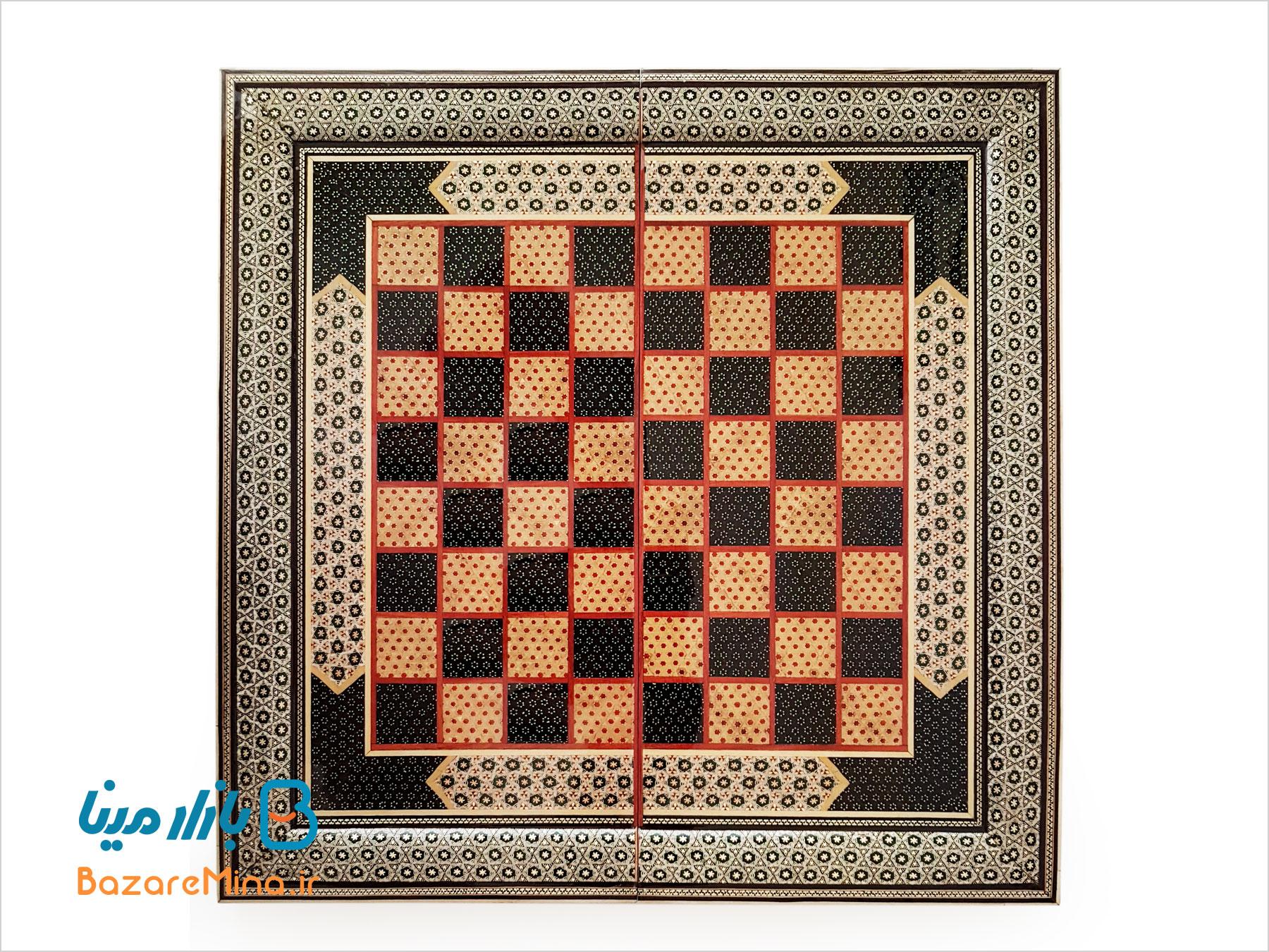 تخته نرد و صفحه شطرنج خاتم اعلا 50 سانتی