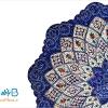 بشقاب میناکاری اثر استاد اسماعیلی قطر 16 سانتی