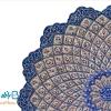بشقاب مسی میناکاری شده اثر اسماعیلی 30 سانتی
