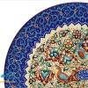 بشقاب میناکاری اسماعیلی طرح گل و مرغ قطر 16
