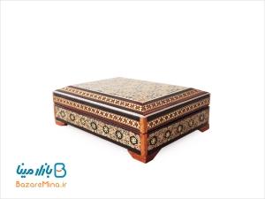 جعبه خاتم کاری شده اصفهان مخصوص کارت