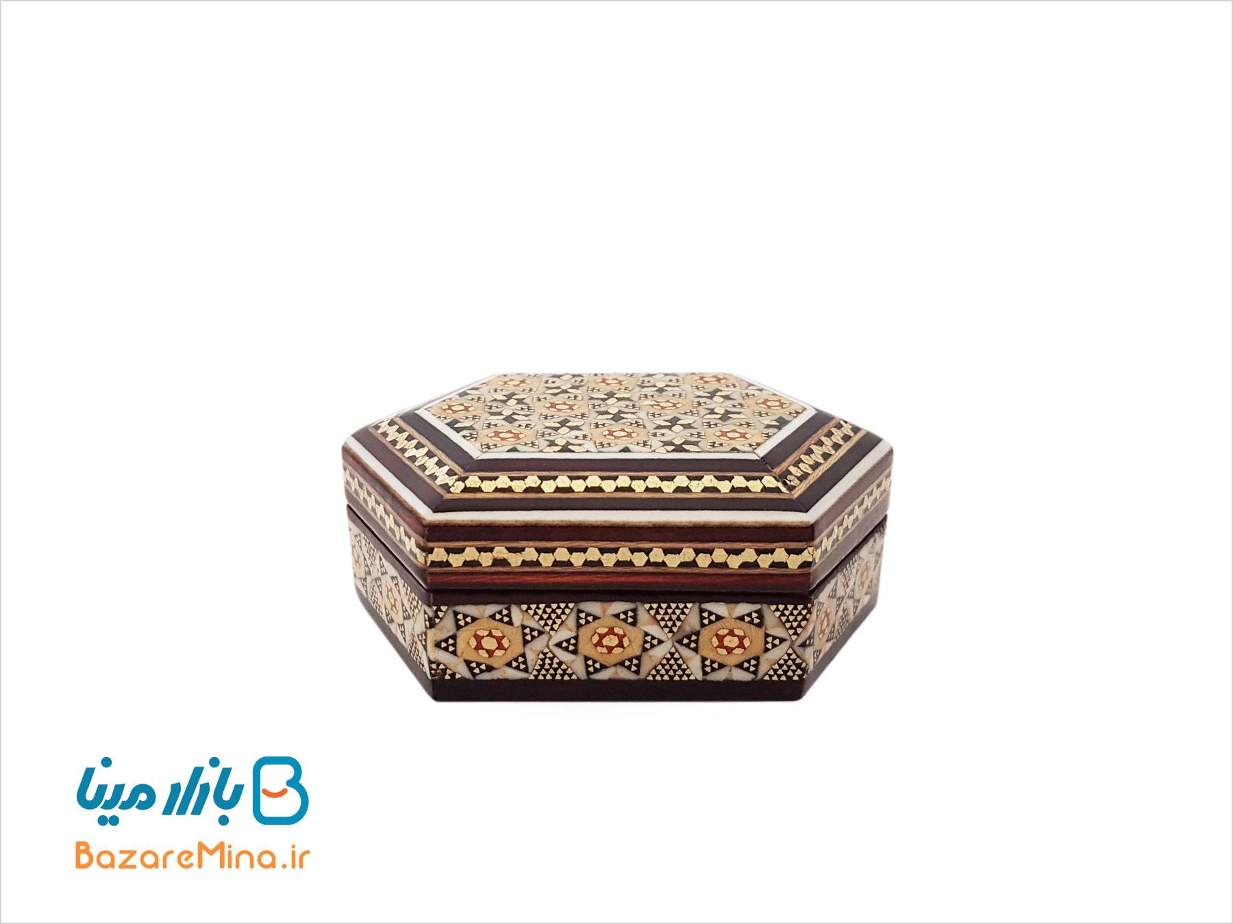 جعبه جاسکه ای خاتم کاری شده اصفهان