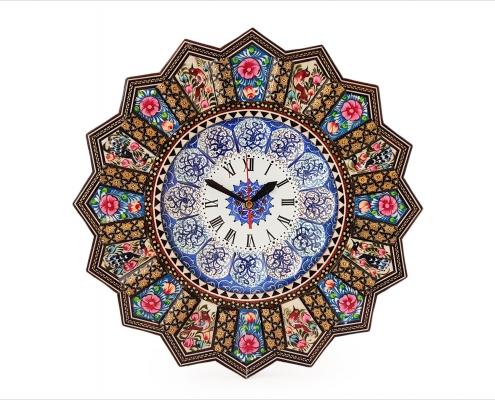 ساعت دیواری خاتم کاری اصفهان