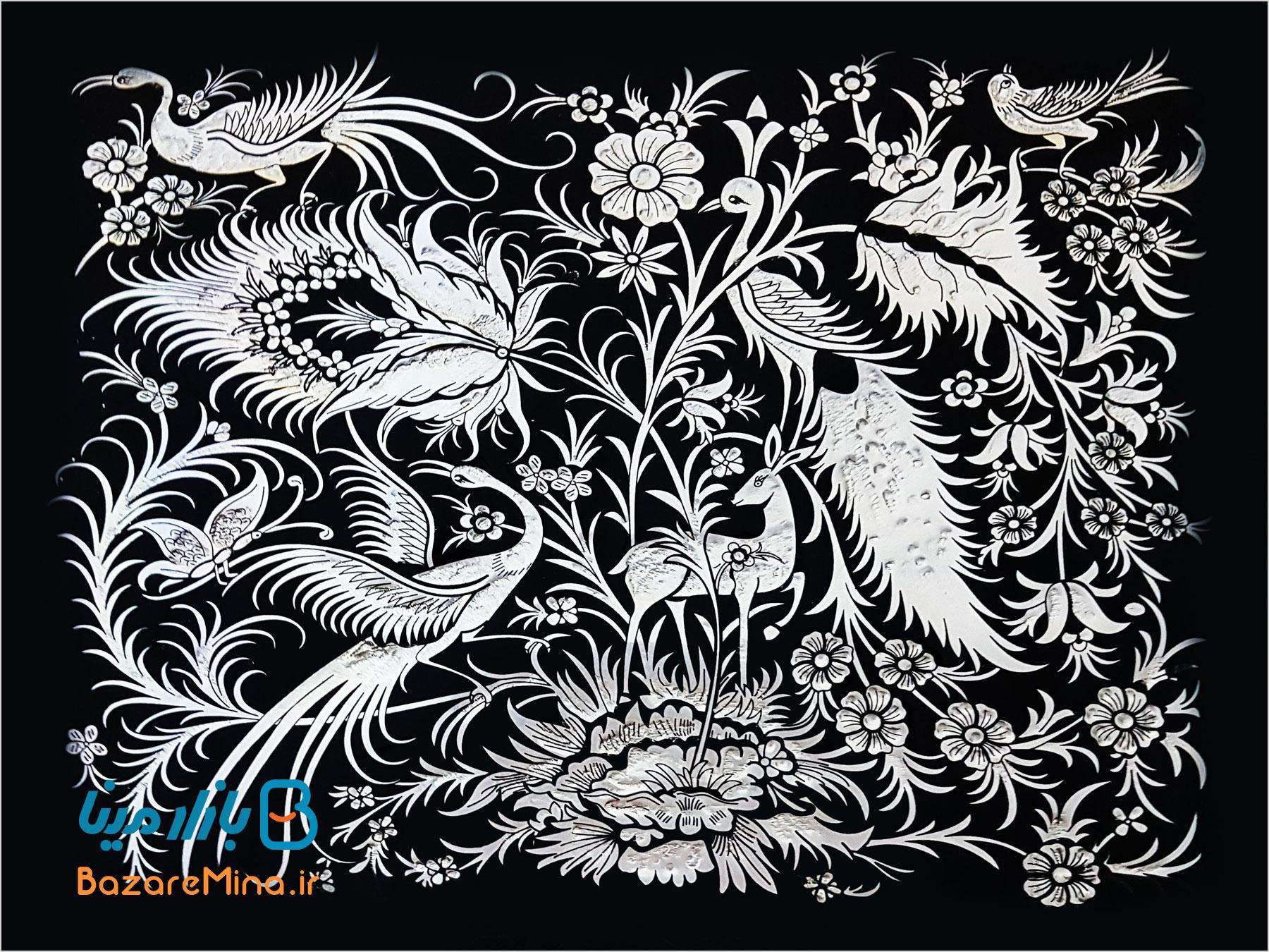 تابلوهای گل و مرغ