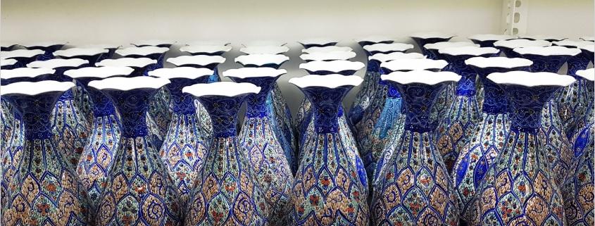 گلدان میناکاری اصفهان هنر ایرانی + پادکست