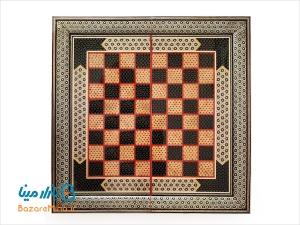 تخته نرد و صفحه شطرنج خاتم کاری 50 سانتي متری