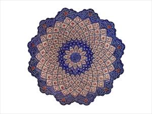 بشقاب میناکاری اثر اسماعیلی قطر ۲۵ سانتی متر