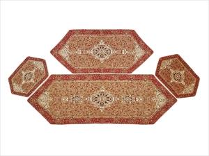 ست 4 تکه رومیزی ترمه یزد طرح چهل ستون
