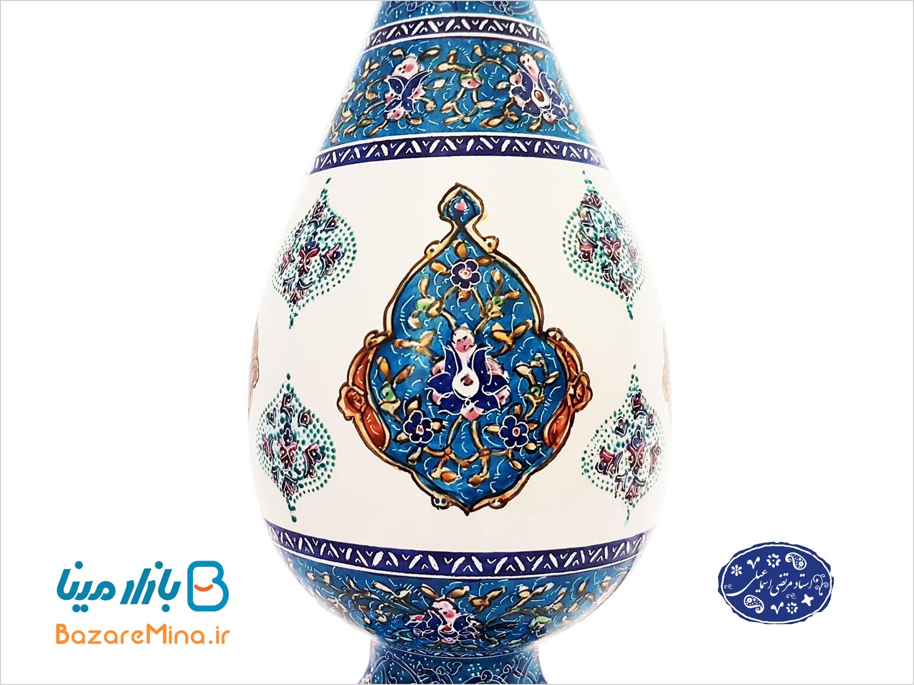فروش آنلاین گلدان های مینا کاری اصفهان