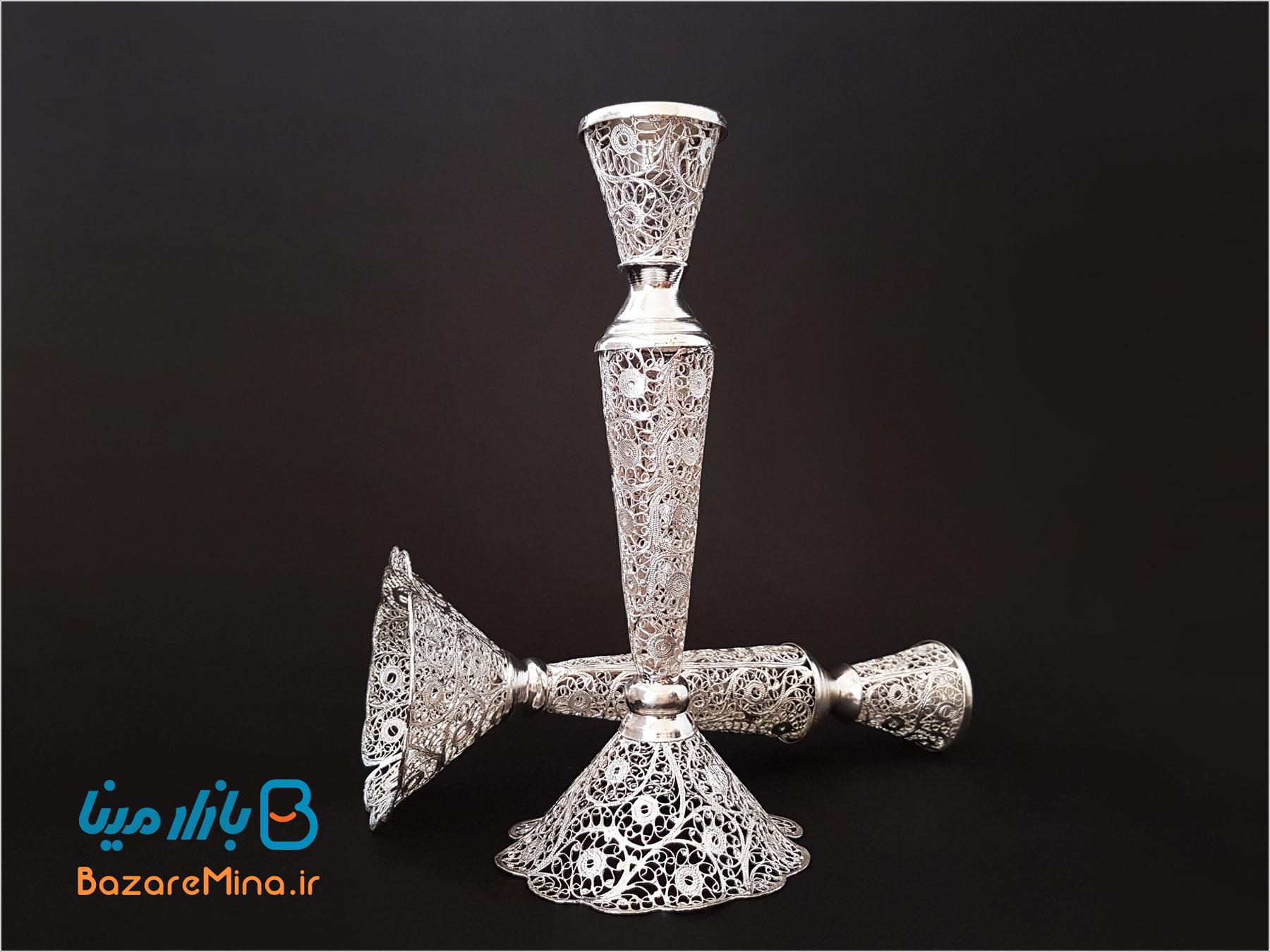 شمعدان ملیله کاری اصفهان