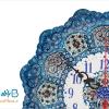 ساعت مسی میناکاری اثر اسماعیلی قطر 20 سانتی