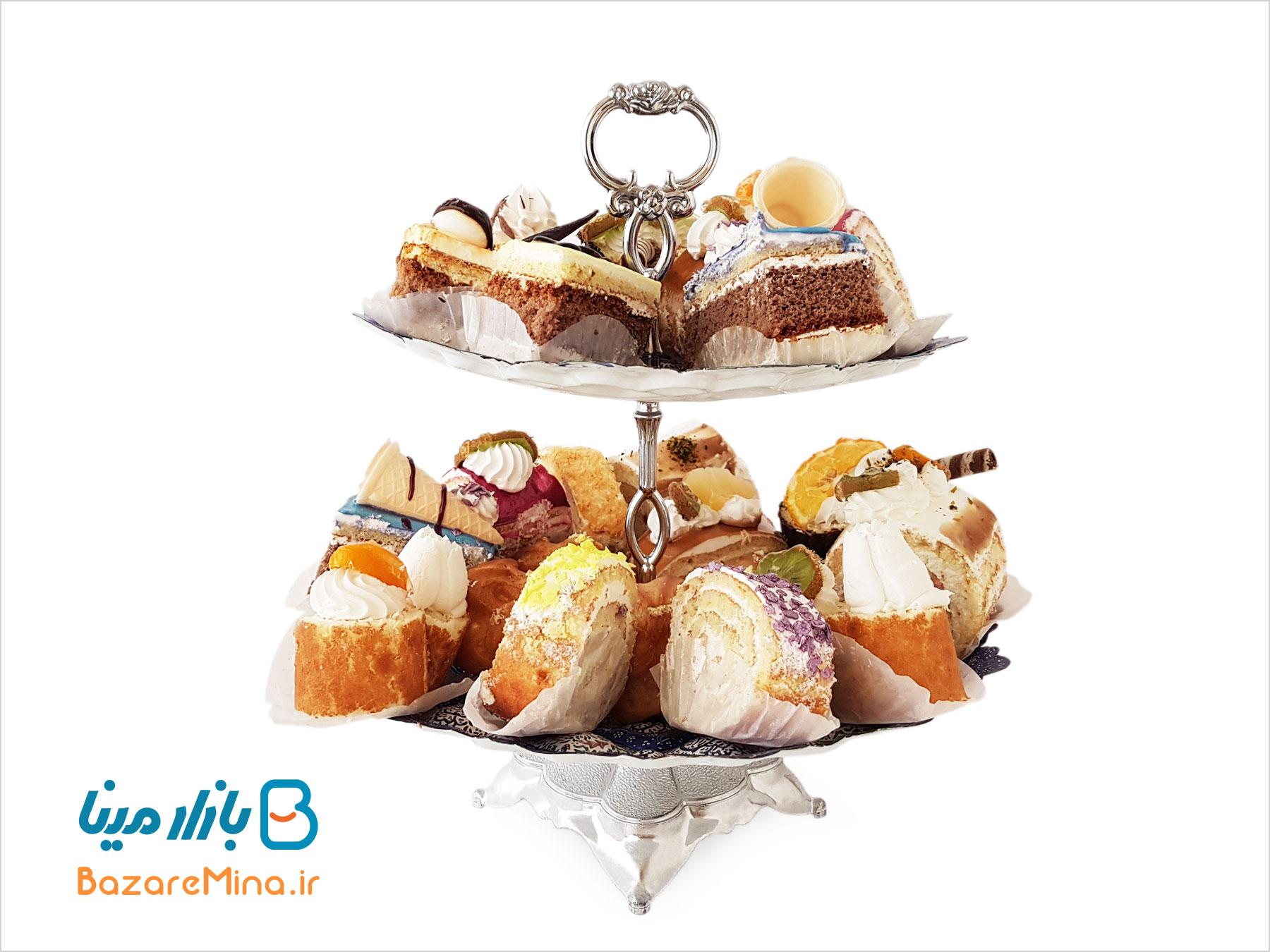 شیرینیخوری دو طبقه میناکاری