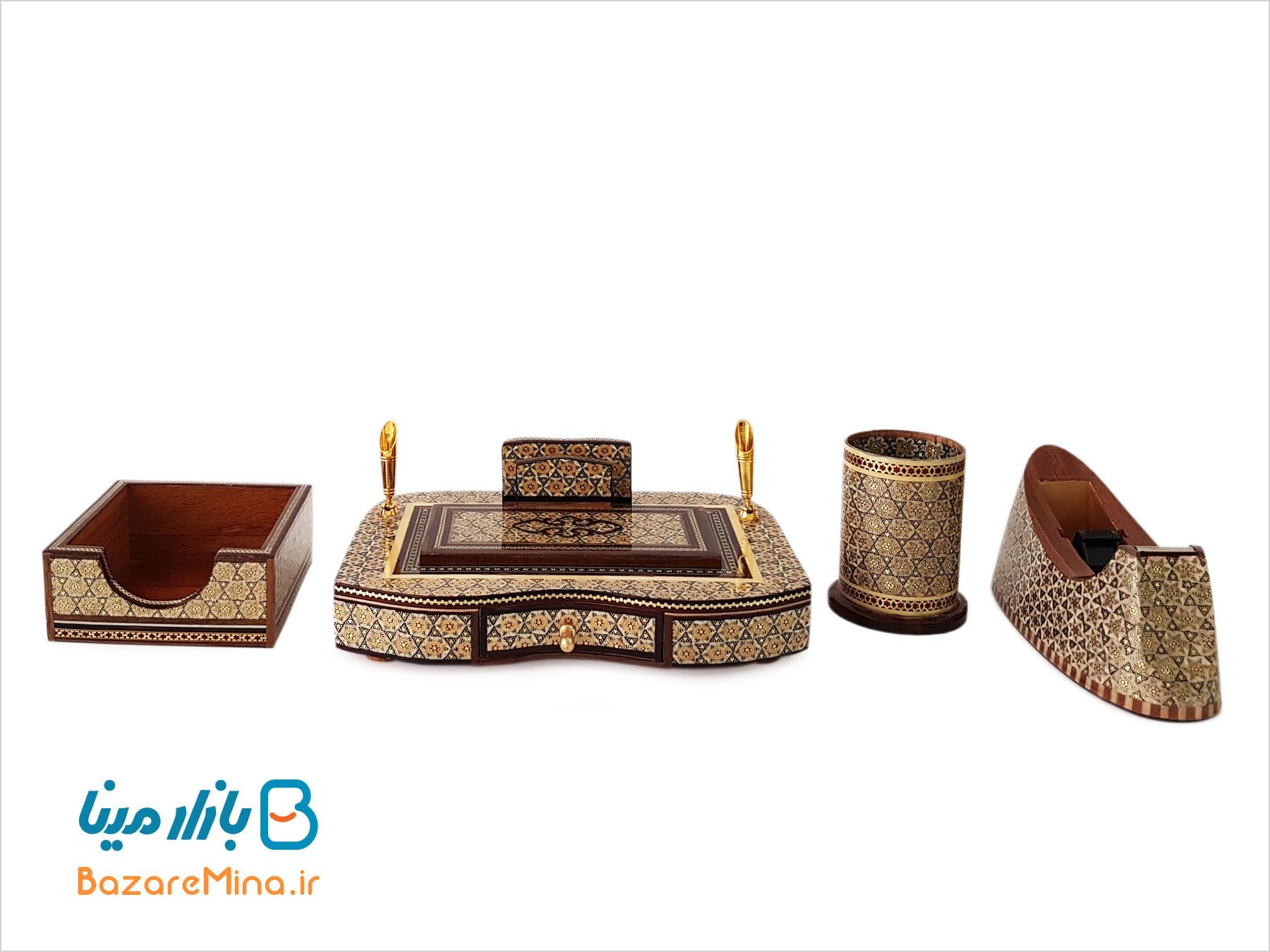 ست میز اداری خاتم کاری اصفهان