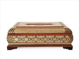 جا دستمال کاغذی خاتم کاری اصفهان