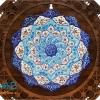 تابلو میناکاری اصفهان با قاب گرد 16 سانتی