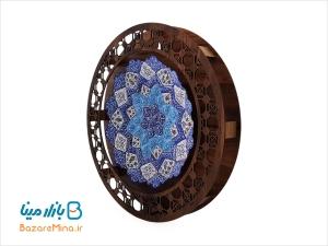 قاب گرد میناکاری اصفهان قطر 25 سانتی
