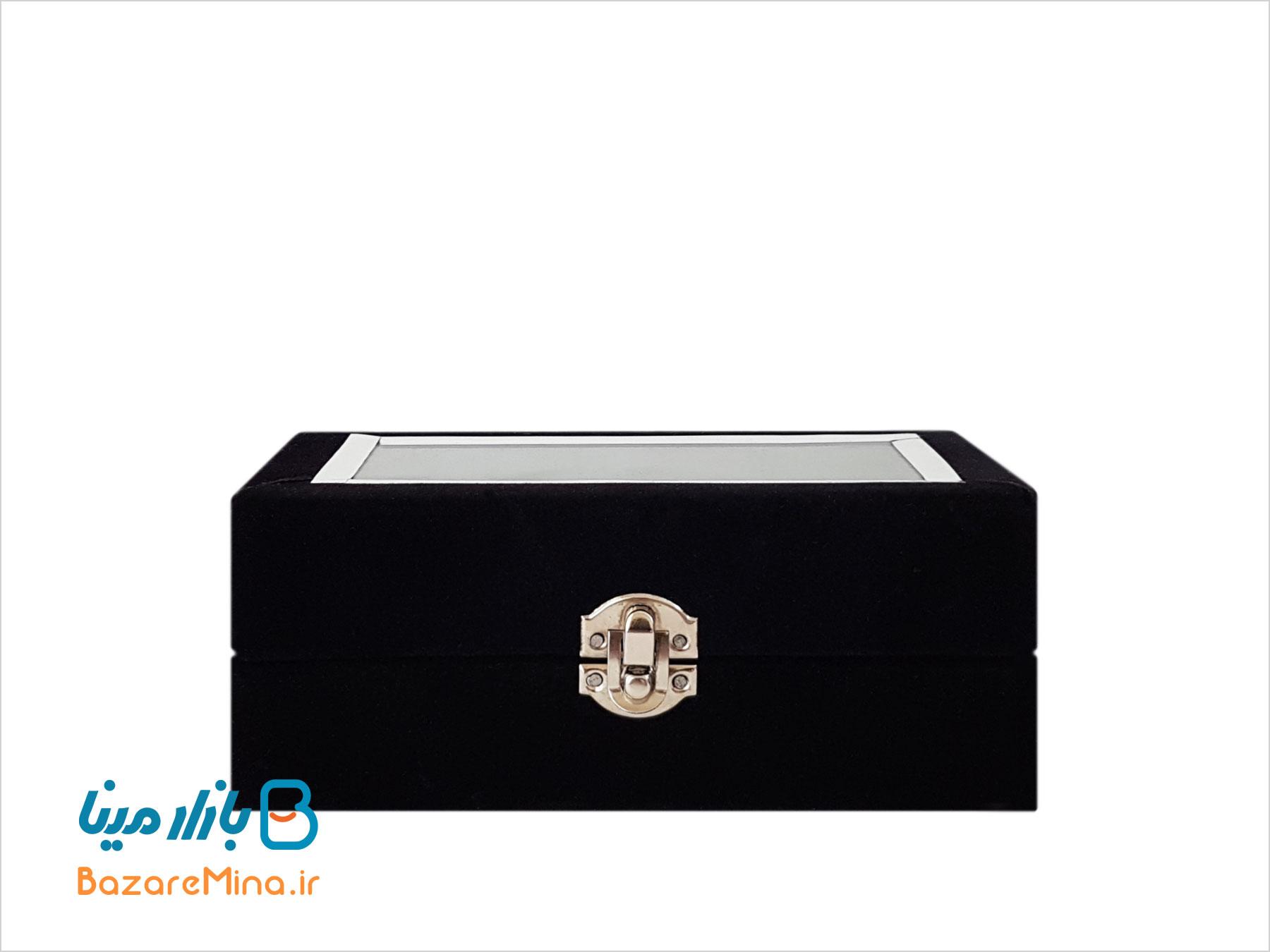 جعبه مخمل گلدان میناکاری 16 سانتی