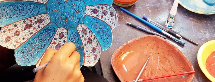 هنر نقاشی میناکاری اصفهان روی مس