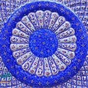 بشقاب مسی میناکاری اصفهان