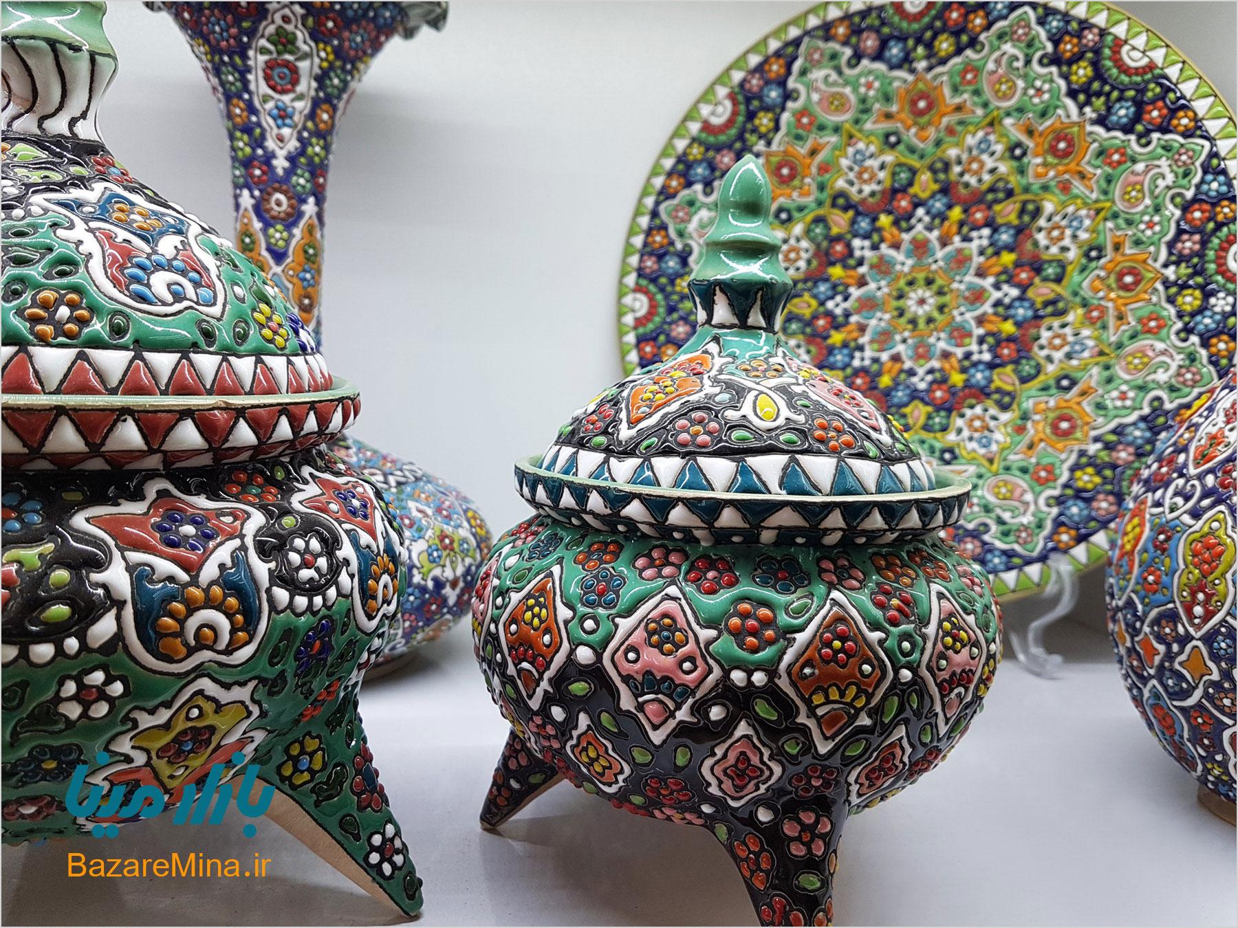 میناکاری سفال اصفهان