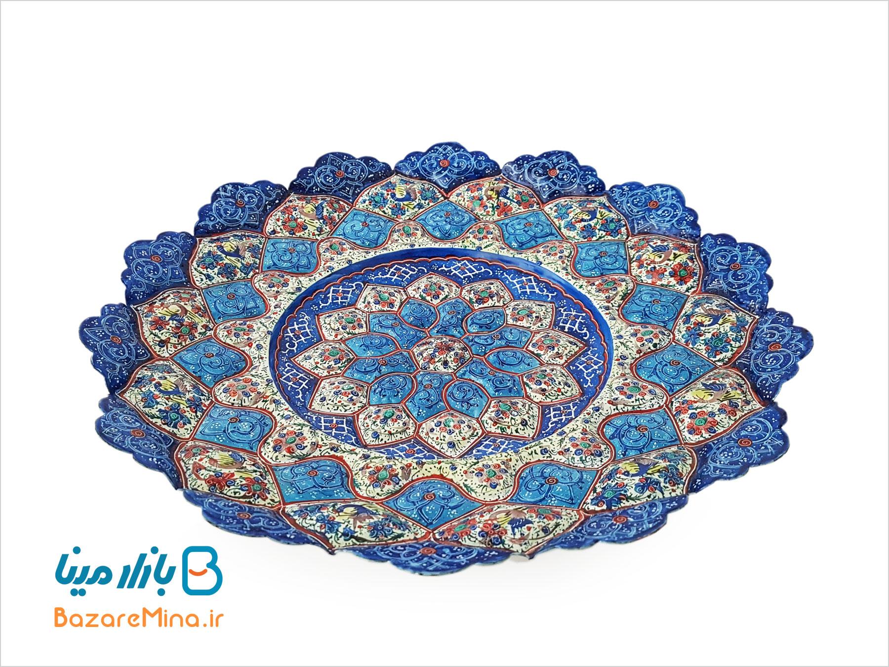 بشقاب مینا کاری اصفهان