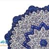 بشقاب مسی میناکاری شده اثر شیرازی قطر 25 سانتی