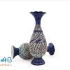 گلدان مسی میناکاری شده اثر شیرازی ارتفاع 20 سانتی متر