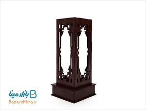 جعبه چوبی گلدان میناکاری ارتفاع 16 سانتی