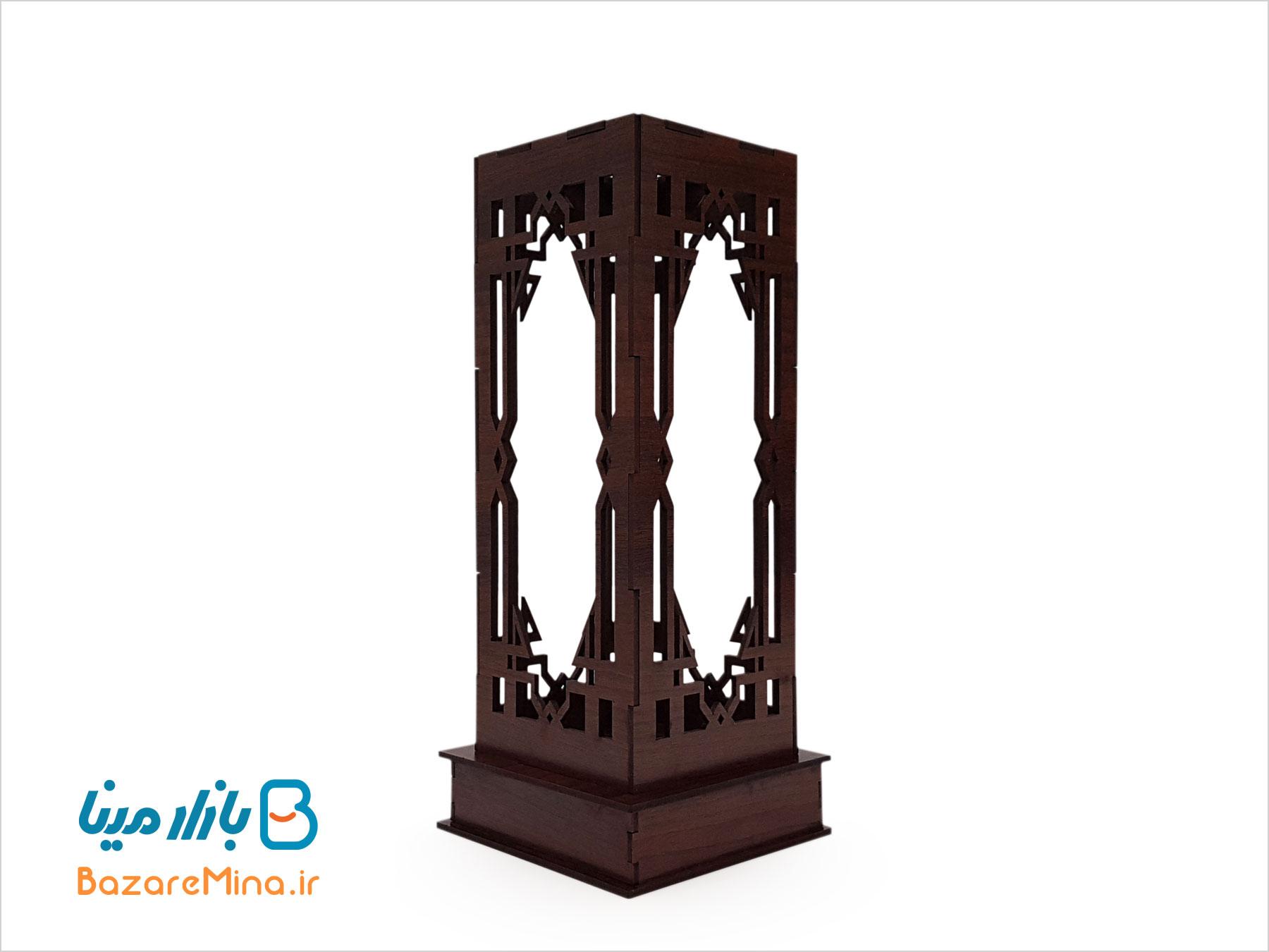 جعبه چوبی گلدان میناکاری ارتفاع 20 سانتی