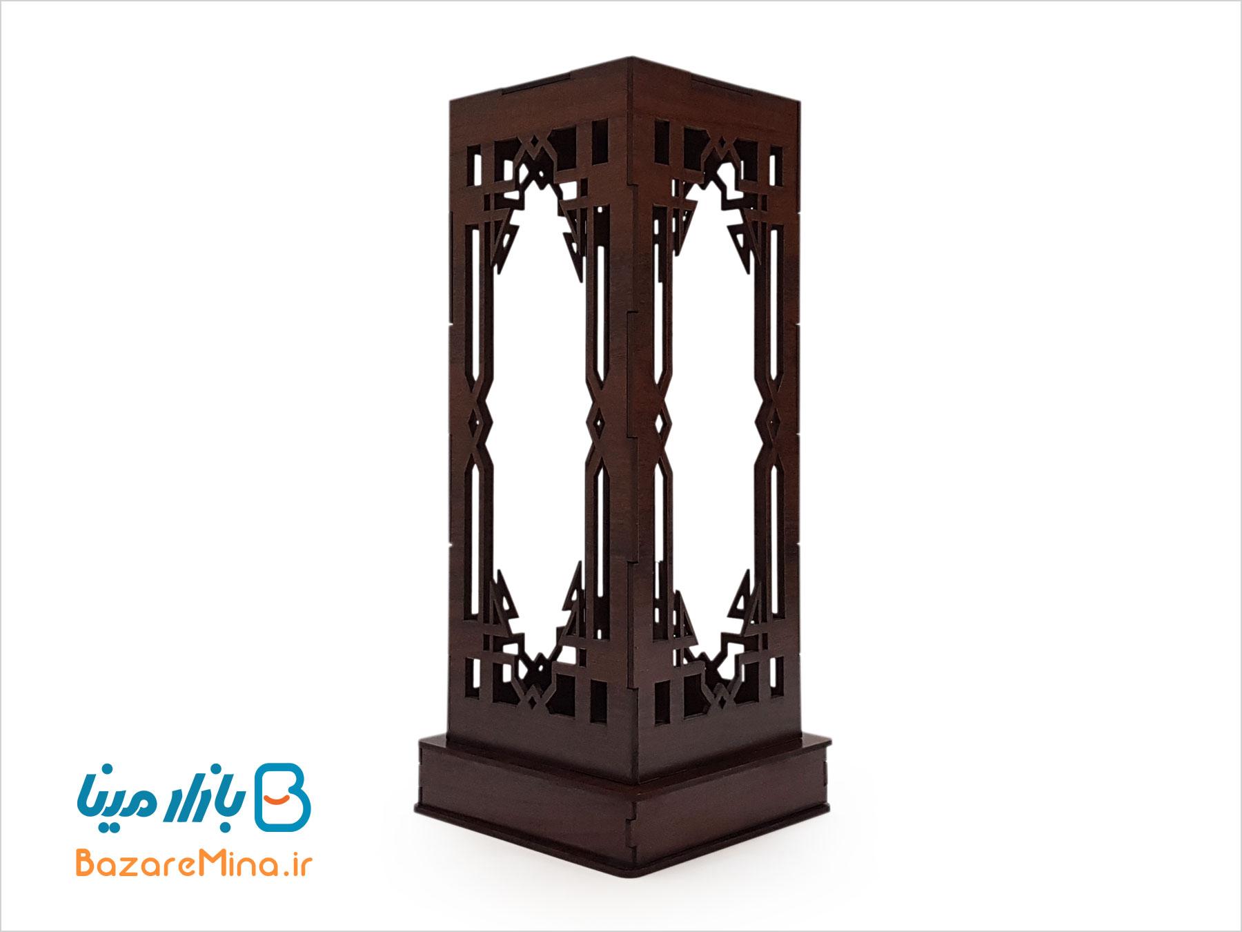 جعبه چوبی گلدان میناکاری ارتفاع 25 سانتی