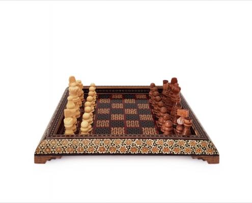 صفحه شطرنج خاتم کاری