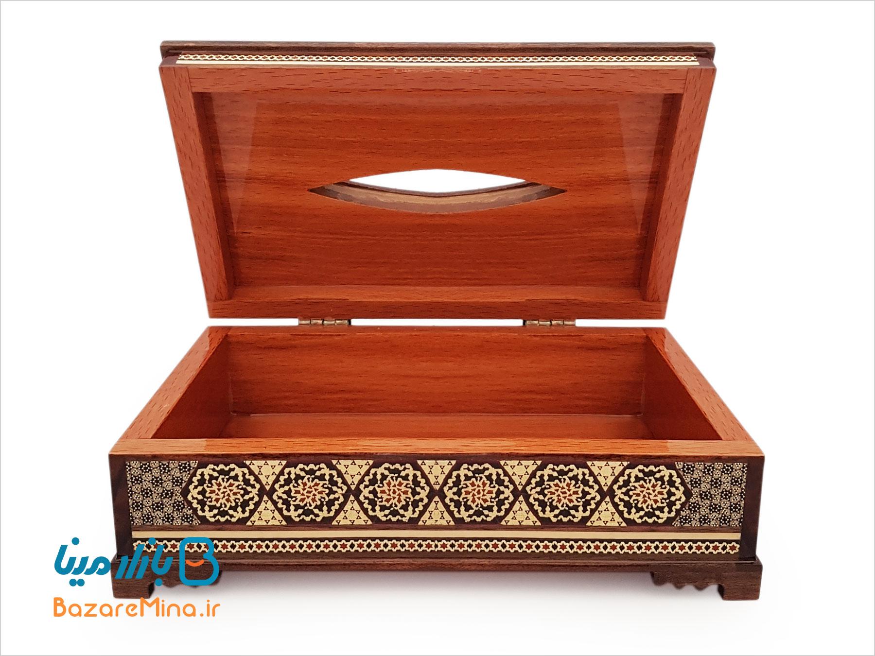 جعبه کلینکس دستمال کاغذی خاتم کاری اصفهان