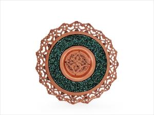 بشقاب فیروزه کوبی اصفهان