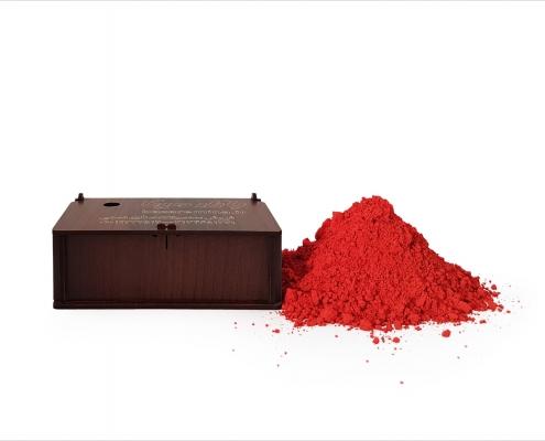 رنگ قرمز (سرنج) مخصوص میناکاری روی مس