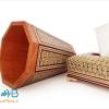 جعبه کلینکس دستمال کاغذی و سطل چوبی خاتم کاری