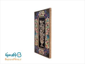 تابلو قلمزنی اصفهان با قاب گل و مرغ