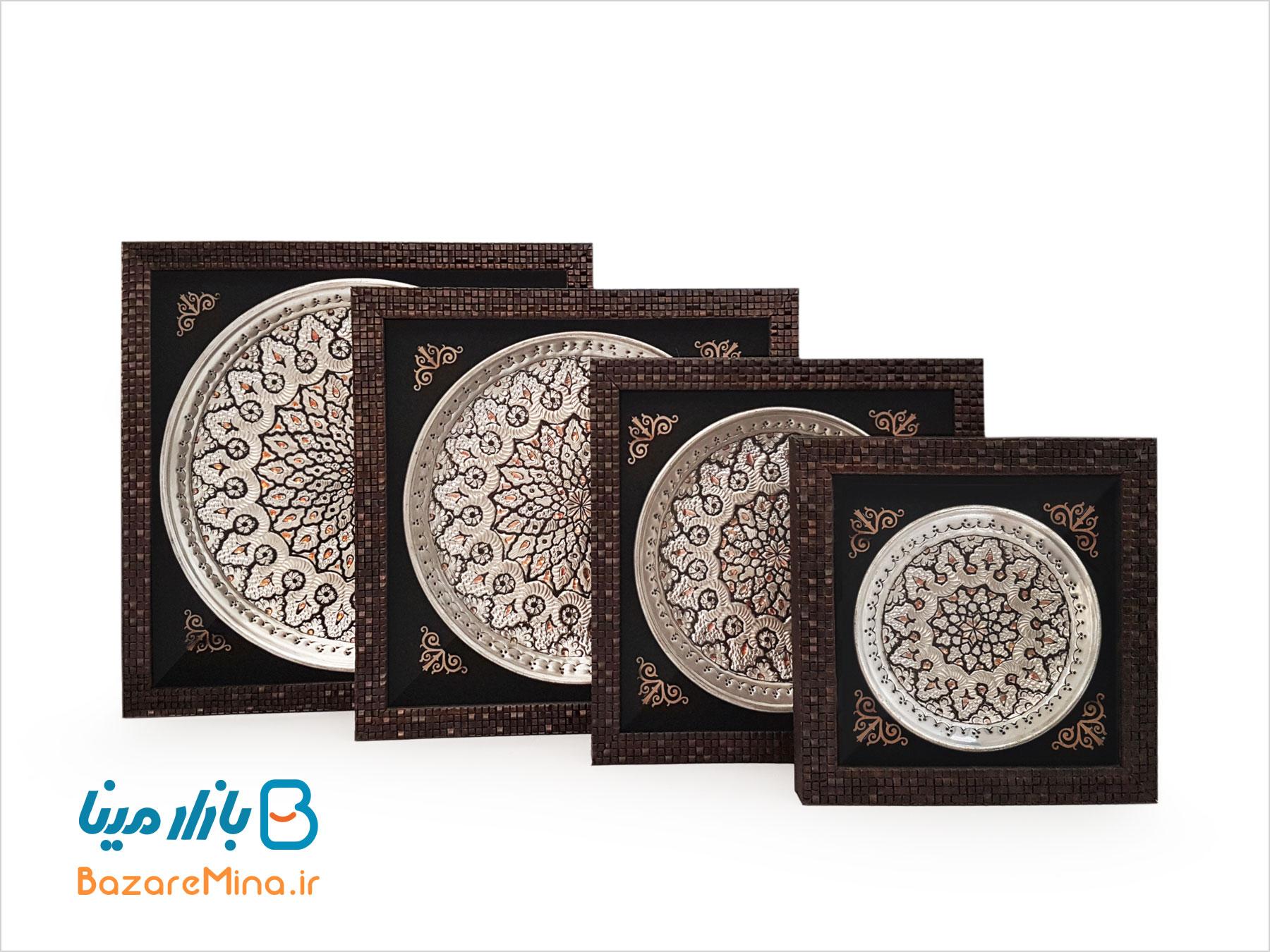 تابلو بشقاب قلمزنی اصفهان قطر 15 سانتی