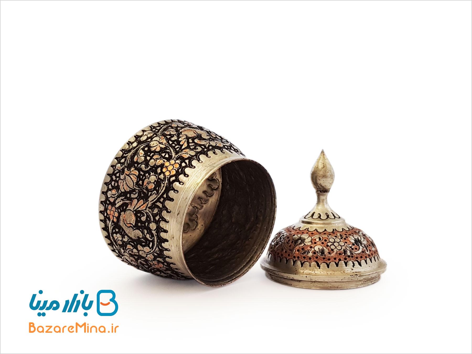 قندان کوچک قلمزنی اصفهان