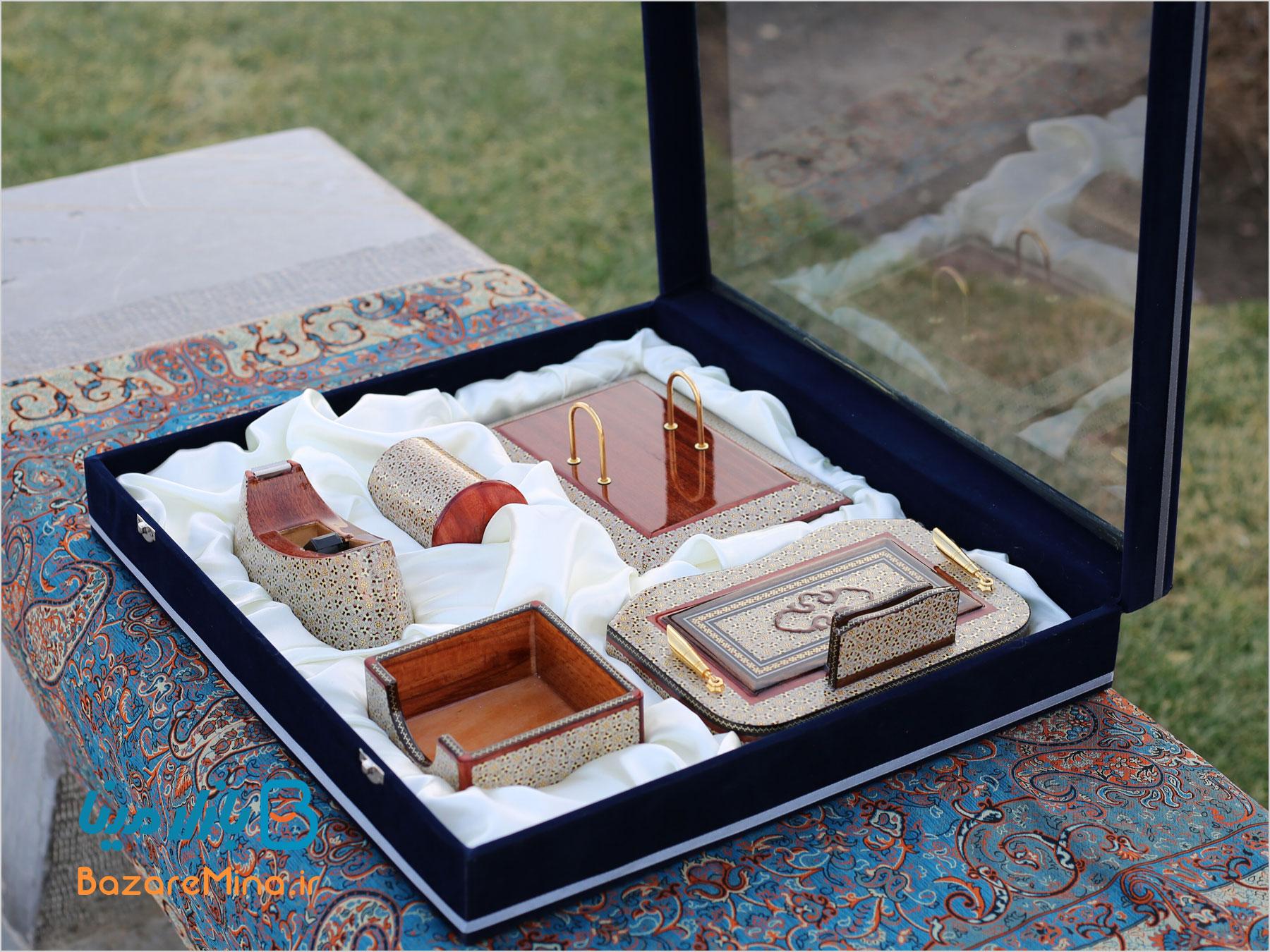 ست اداری خاتم کاری اصفهان