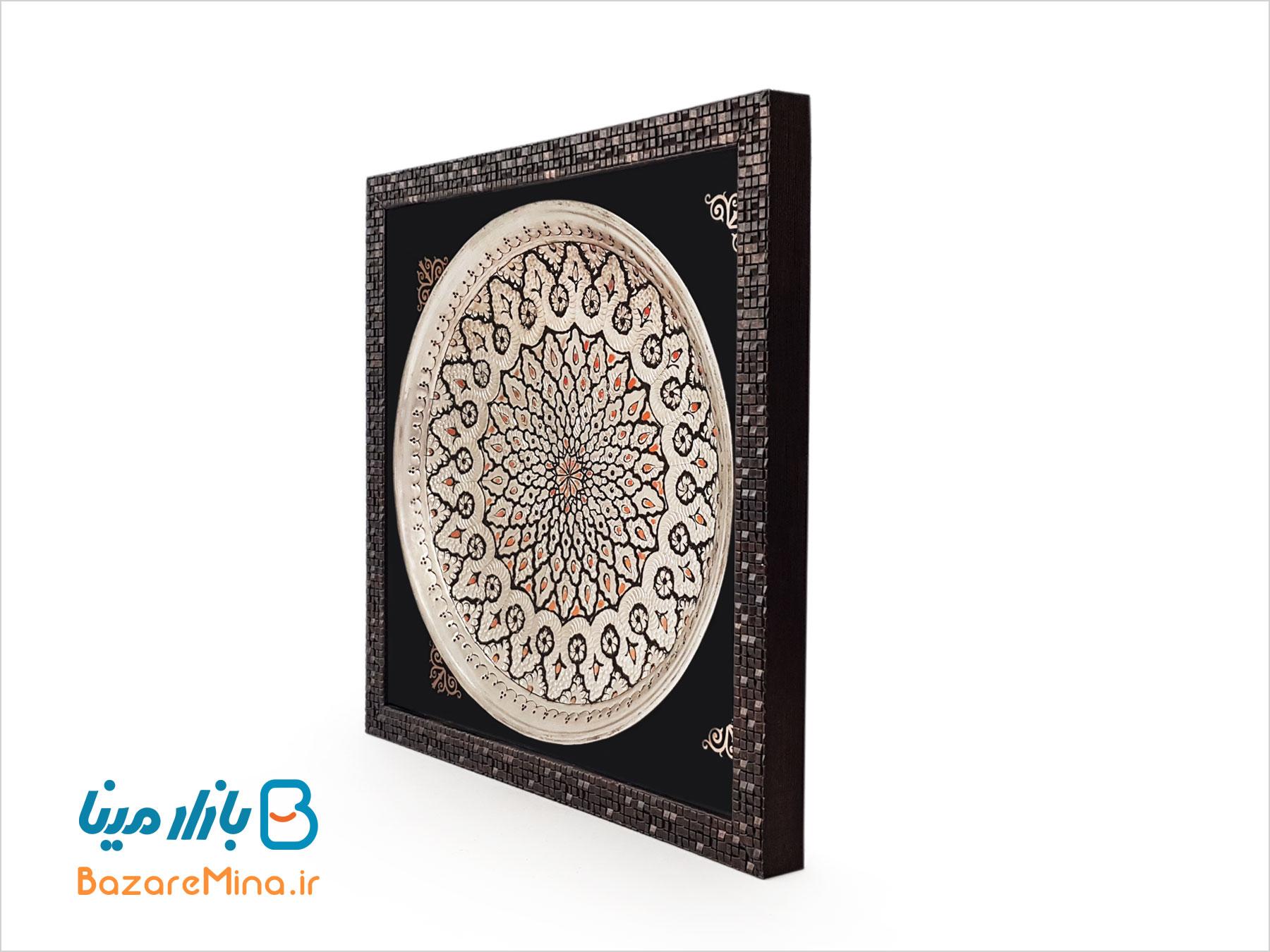 قاب بشقاب قلم زنی اصفهان قطر 30 سانت