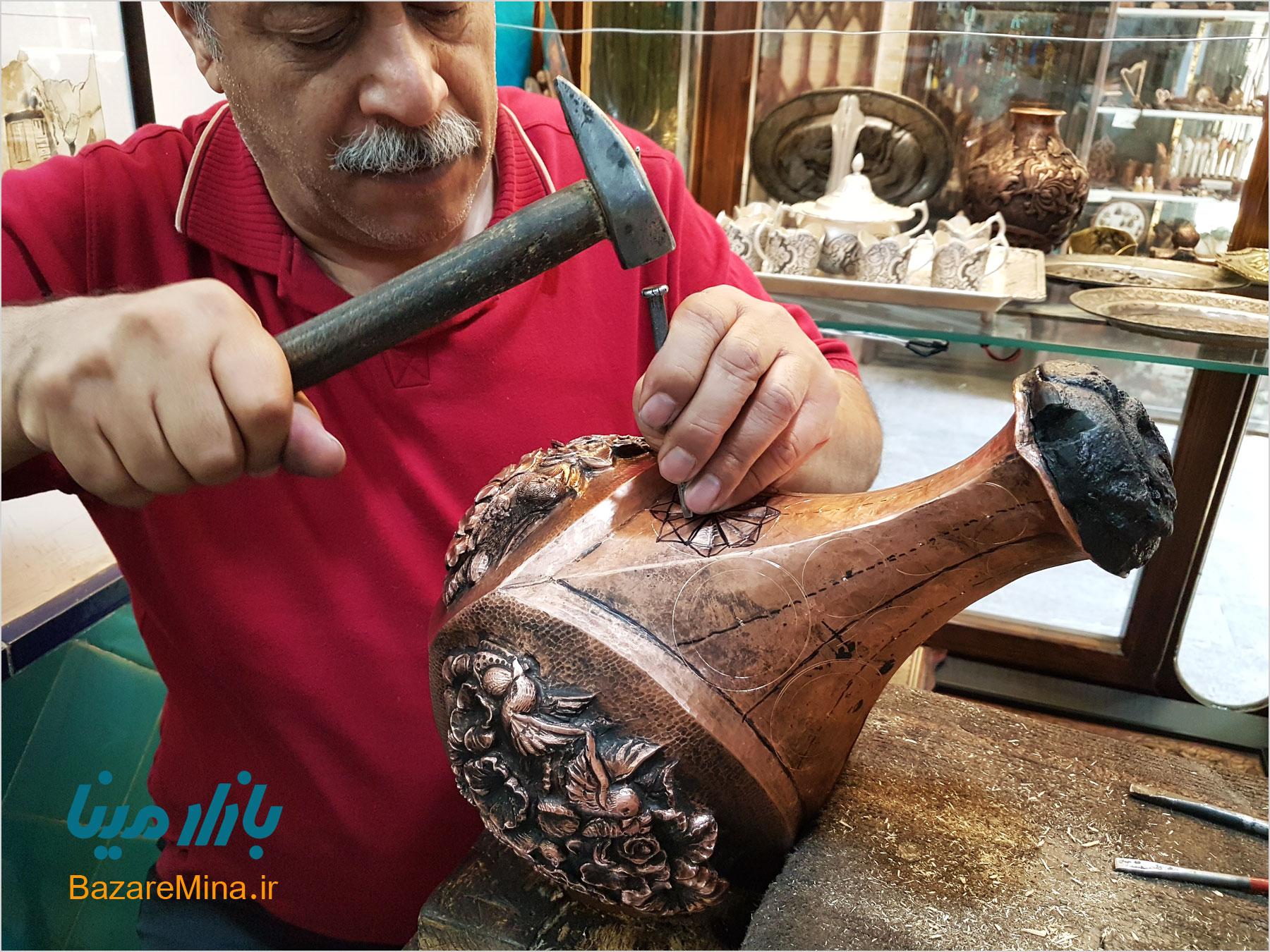 استاد قلمزنی اصفهان
