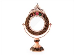 آینه گرد تاج دار تشعیر برند آقاجانی